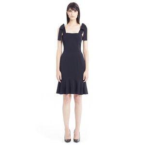 Dolce & Gabbana Shoulder Tie Stretch-Silk Dress